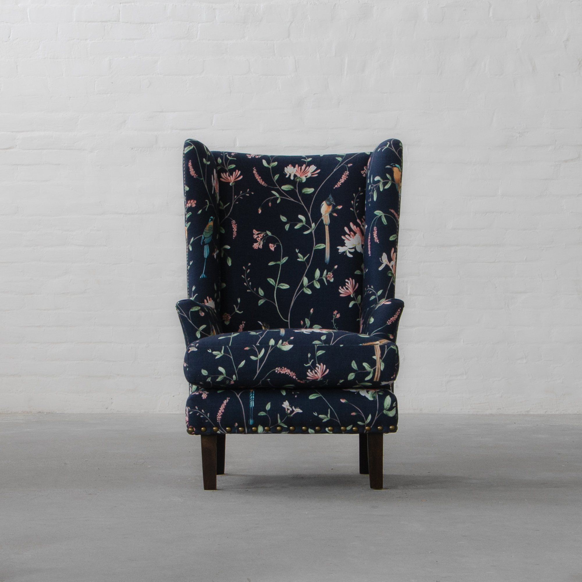 Candolim Fabric Wingback Chair