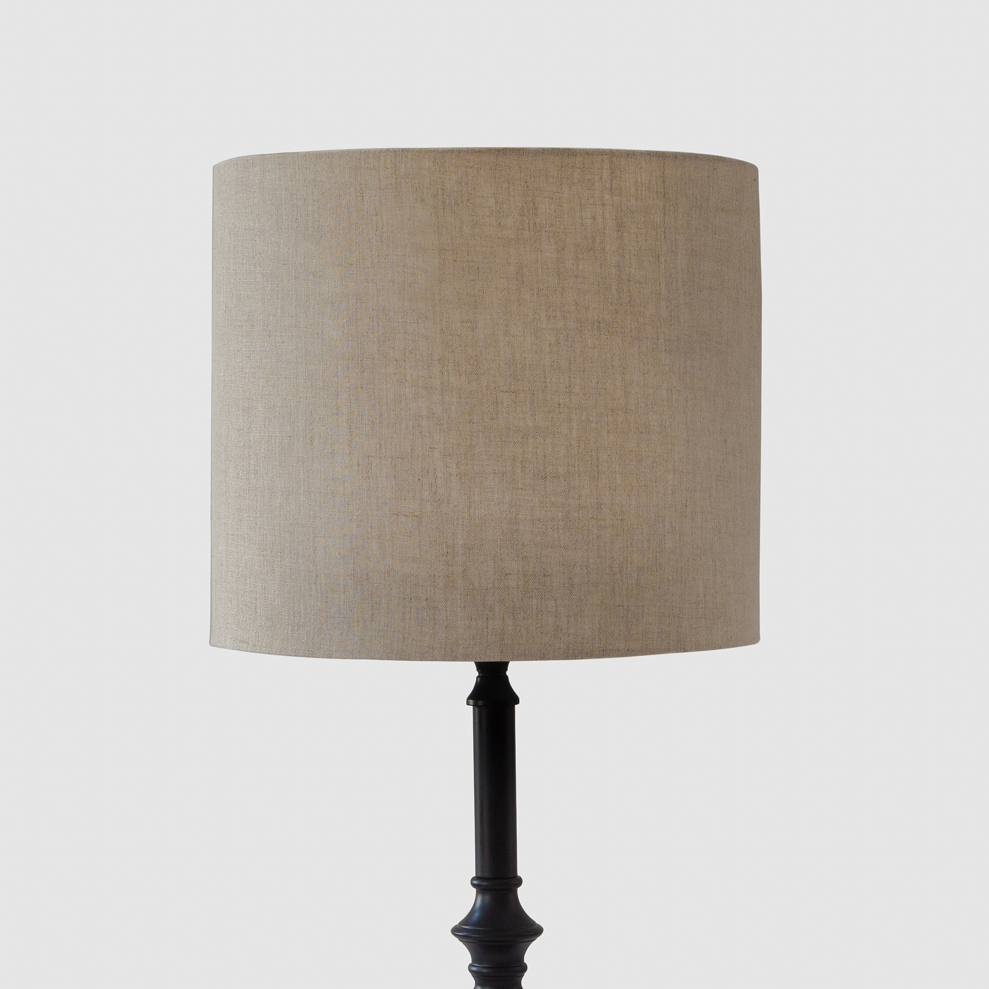 Chalet Cylindrical Table Lampshade - 100% Linen Ivory