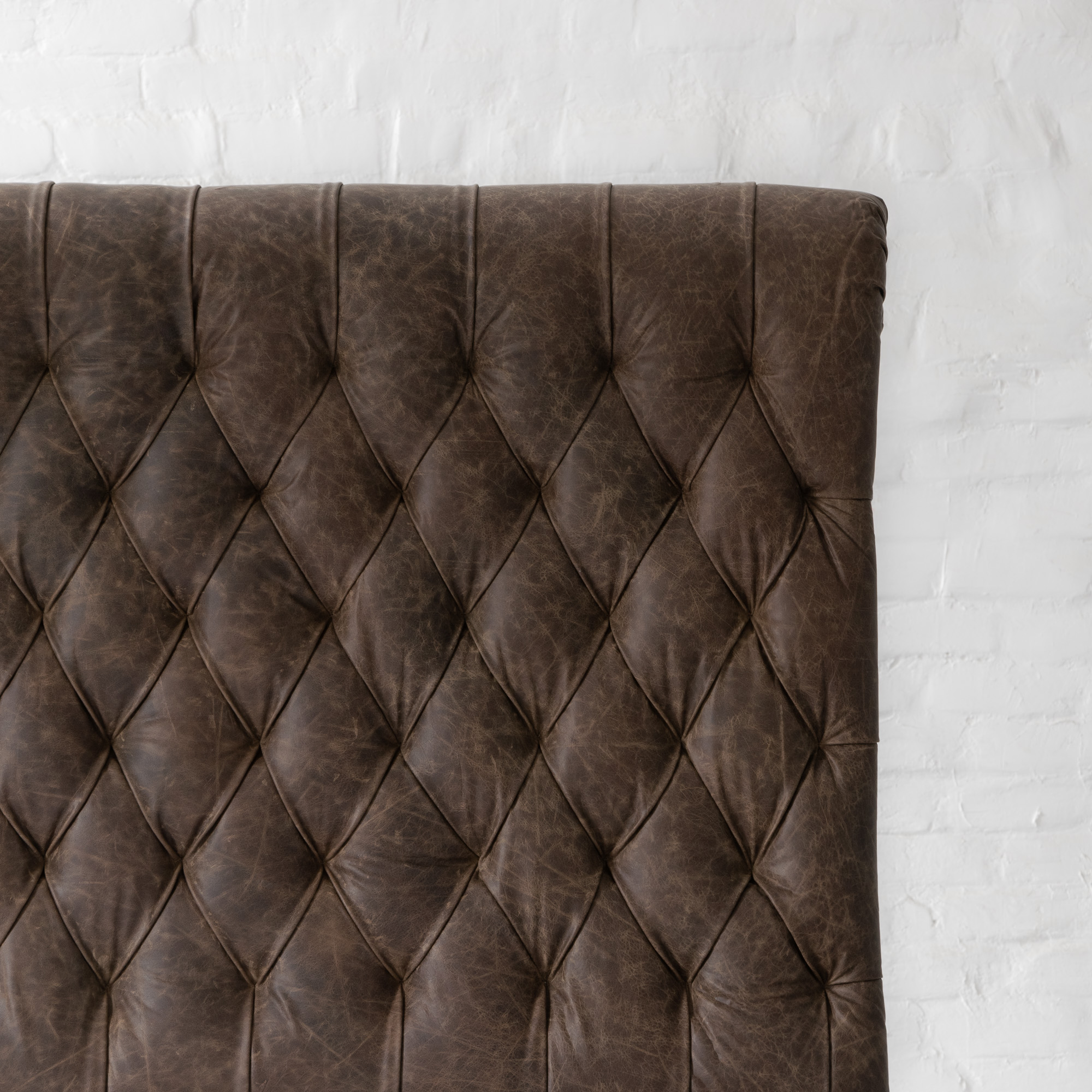 Chesterfield Leather Bed Collection