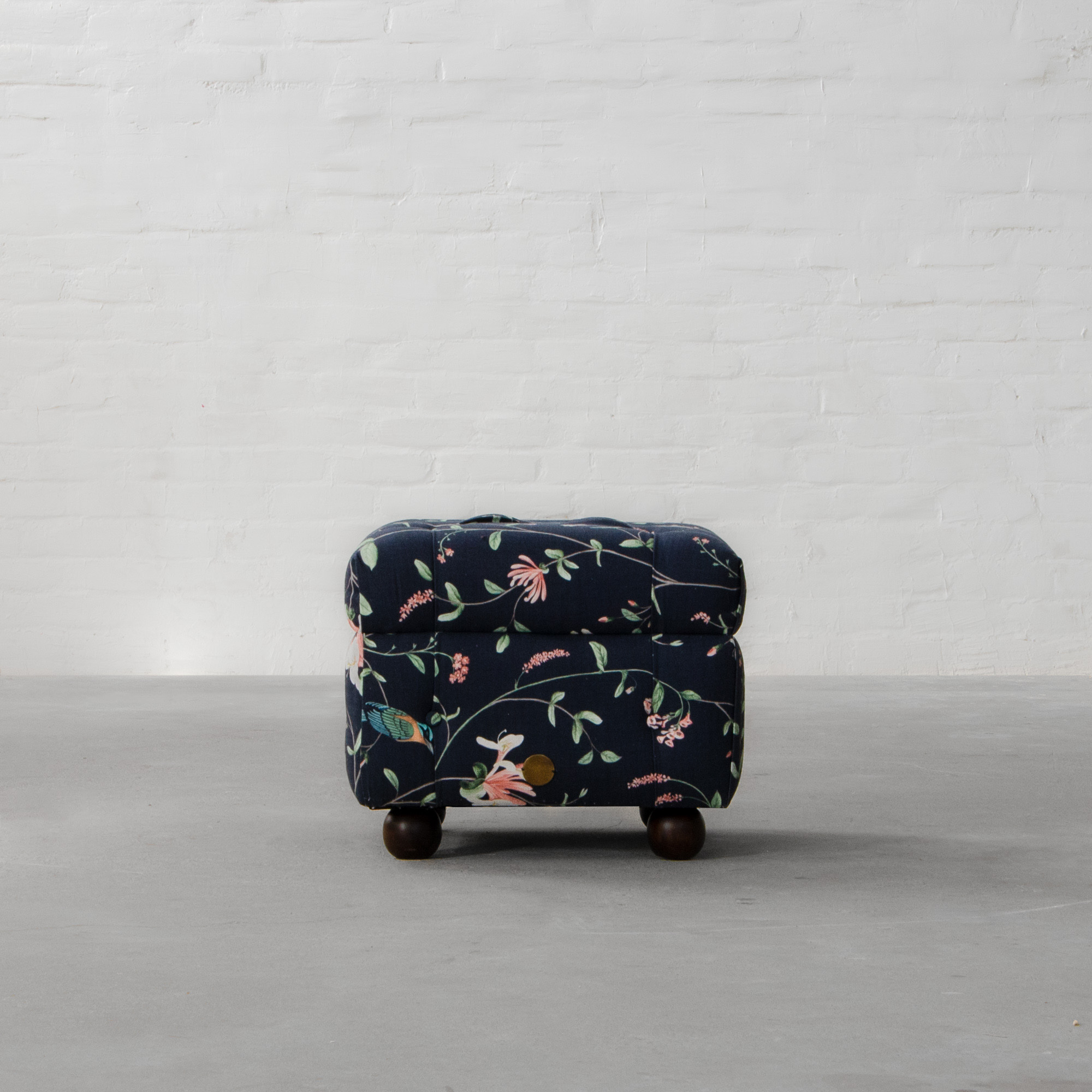 Chesterfield Fabric Ottoman