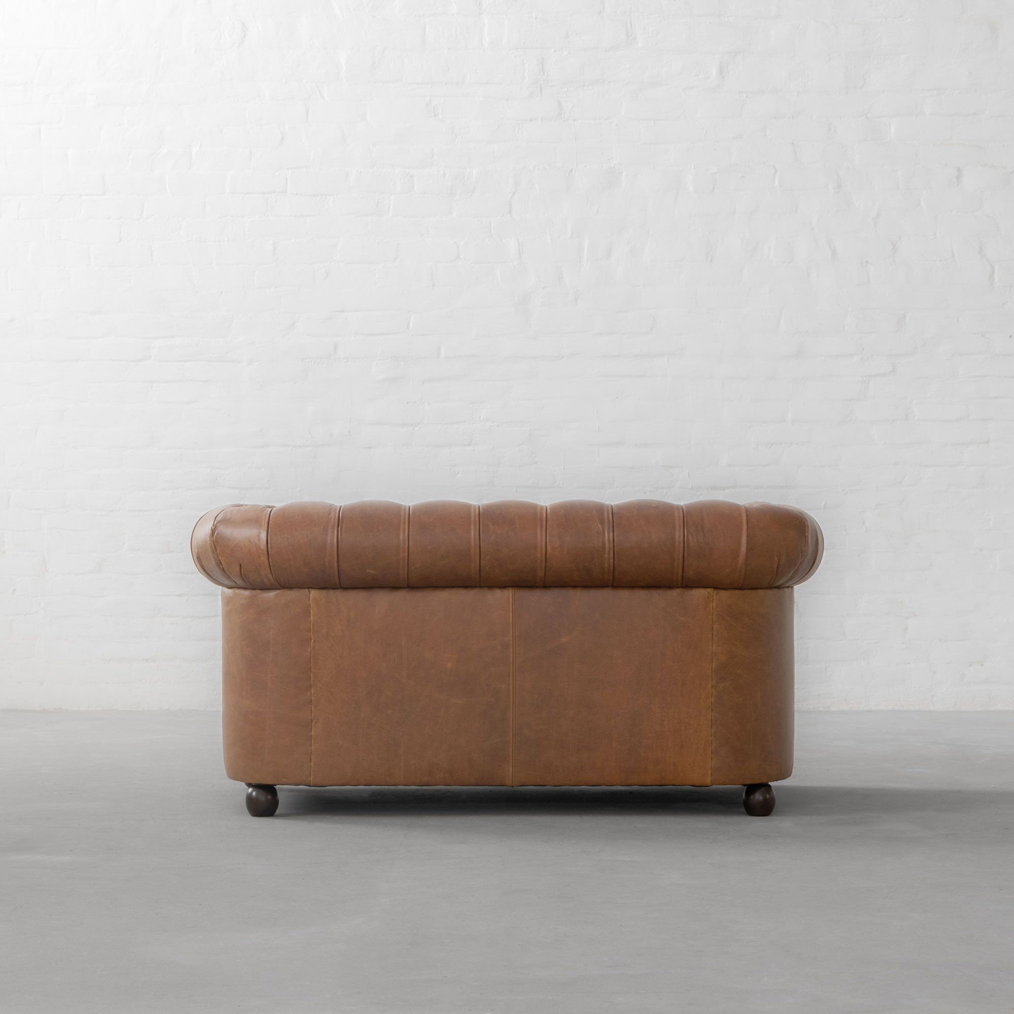 Classic Chesterfield Faux Leather Sofa