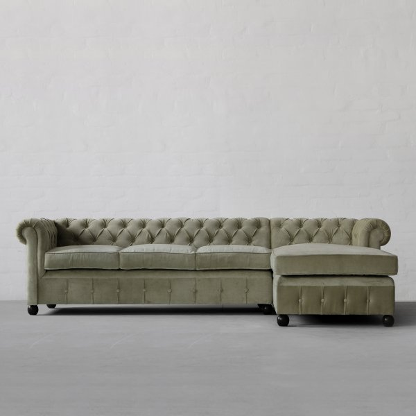 Chesterfield Chaise Sectional Sofa Large