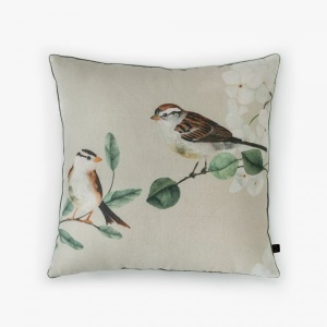 NESTLING SPARROWS CUSHION COVER