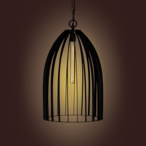 Metal Cage Pendant Lamp- Coal