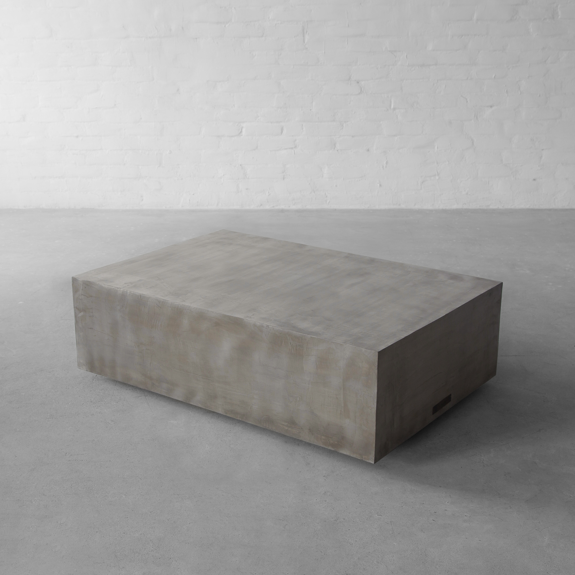 Concrete Island: Block Coffee Table