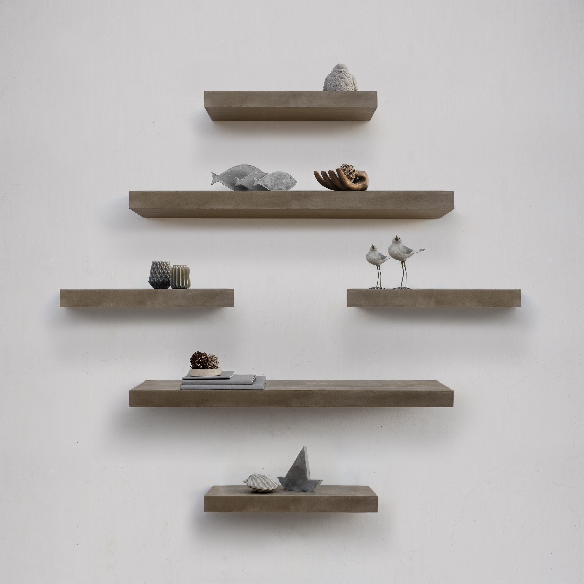 Concrete Island Floating Shelves