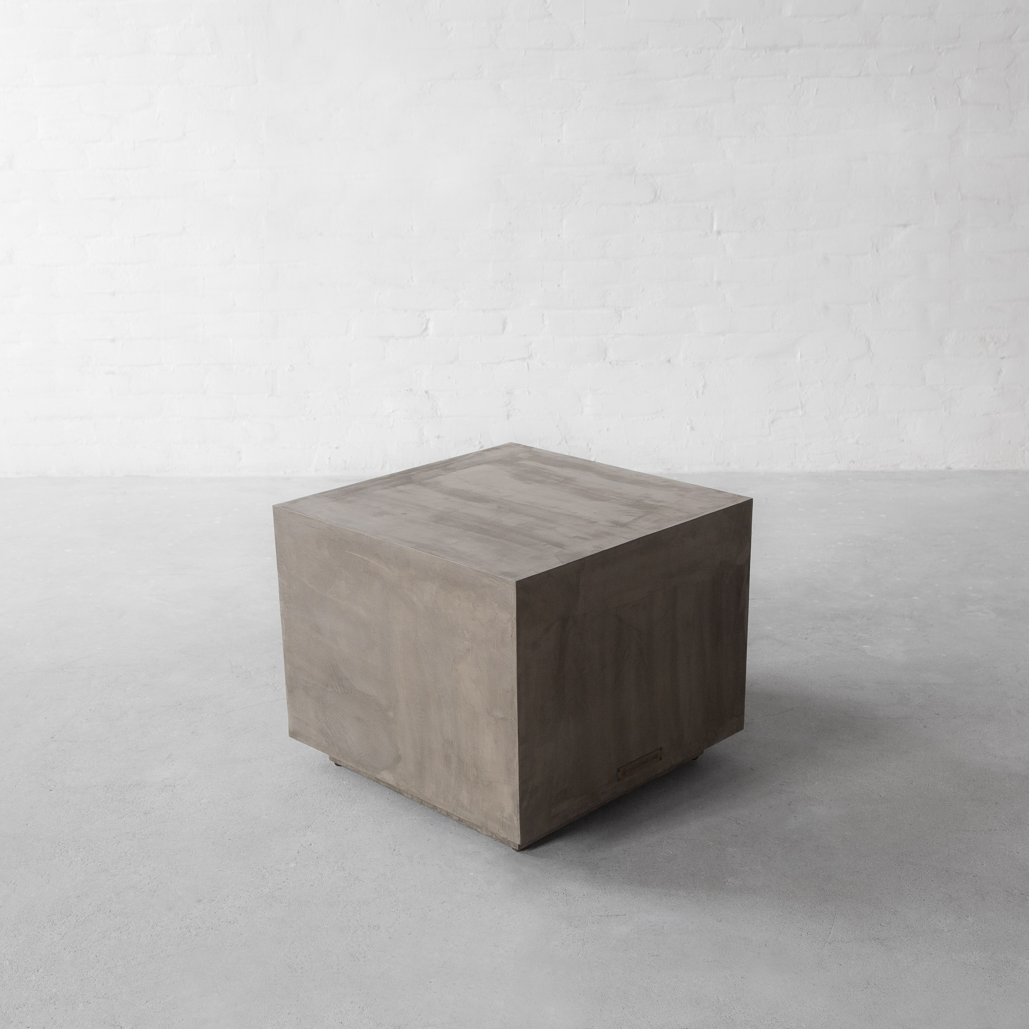Concrete Island: Block Side Table