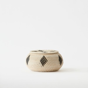 Malay Trinket Handwoven Bowl Ivory