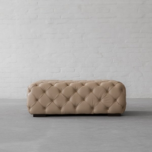 Birmingham Tufted Leather Ottoman/ Coffee table
