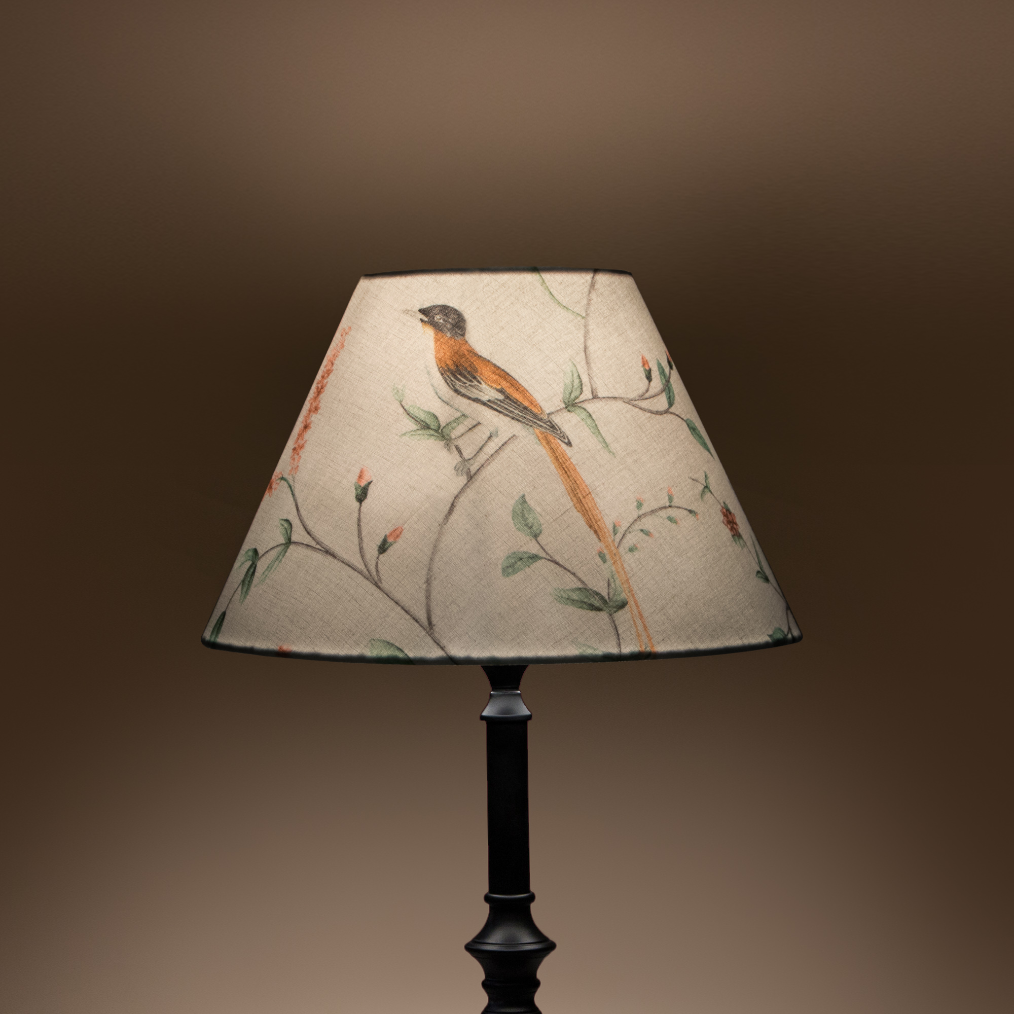 Cottage Bell Lampshade – Small - A Persian Garden Dawn