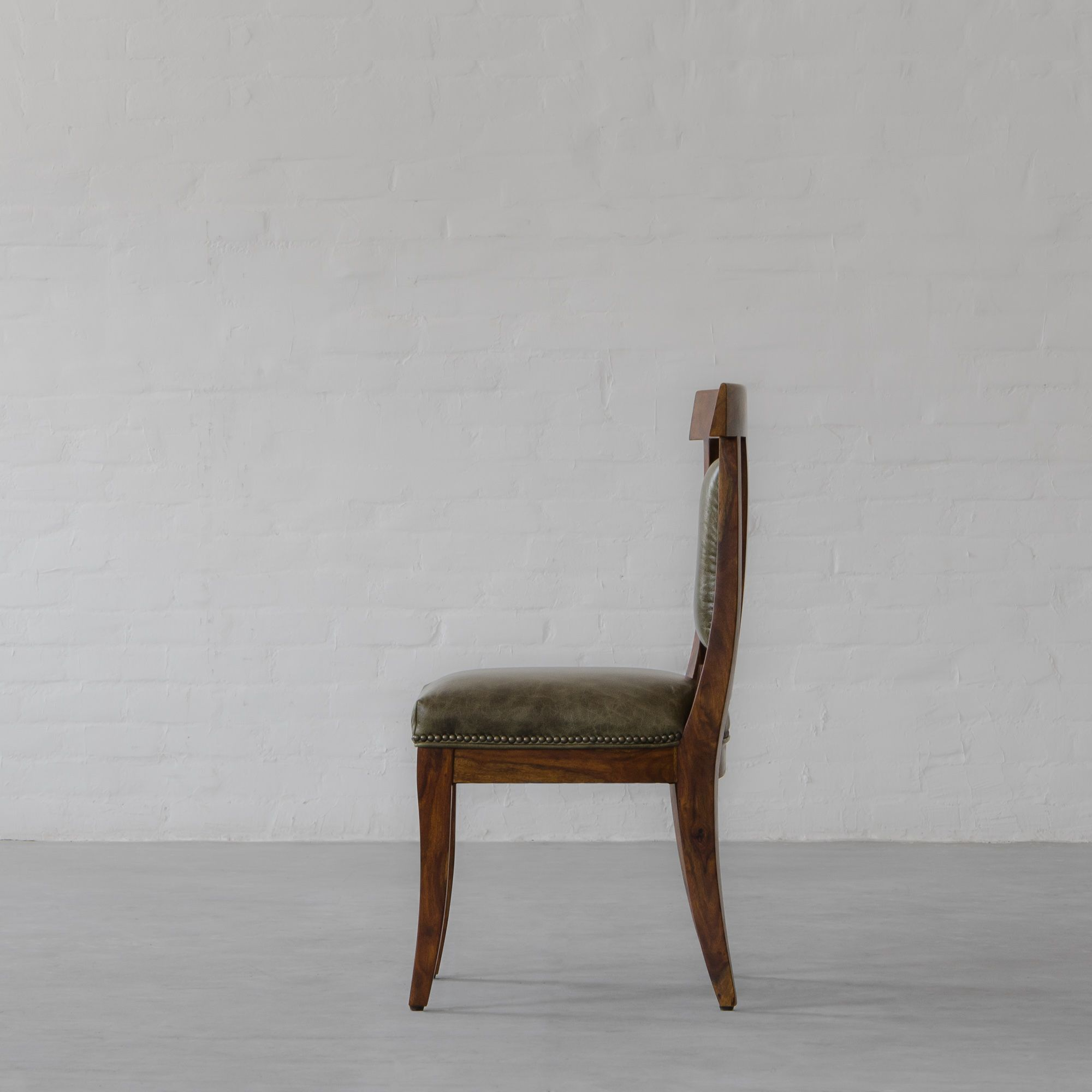Arcade Dining Chair Leather- Armless