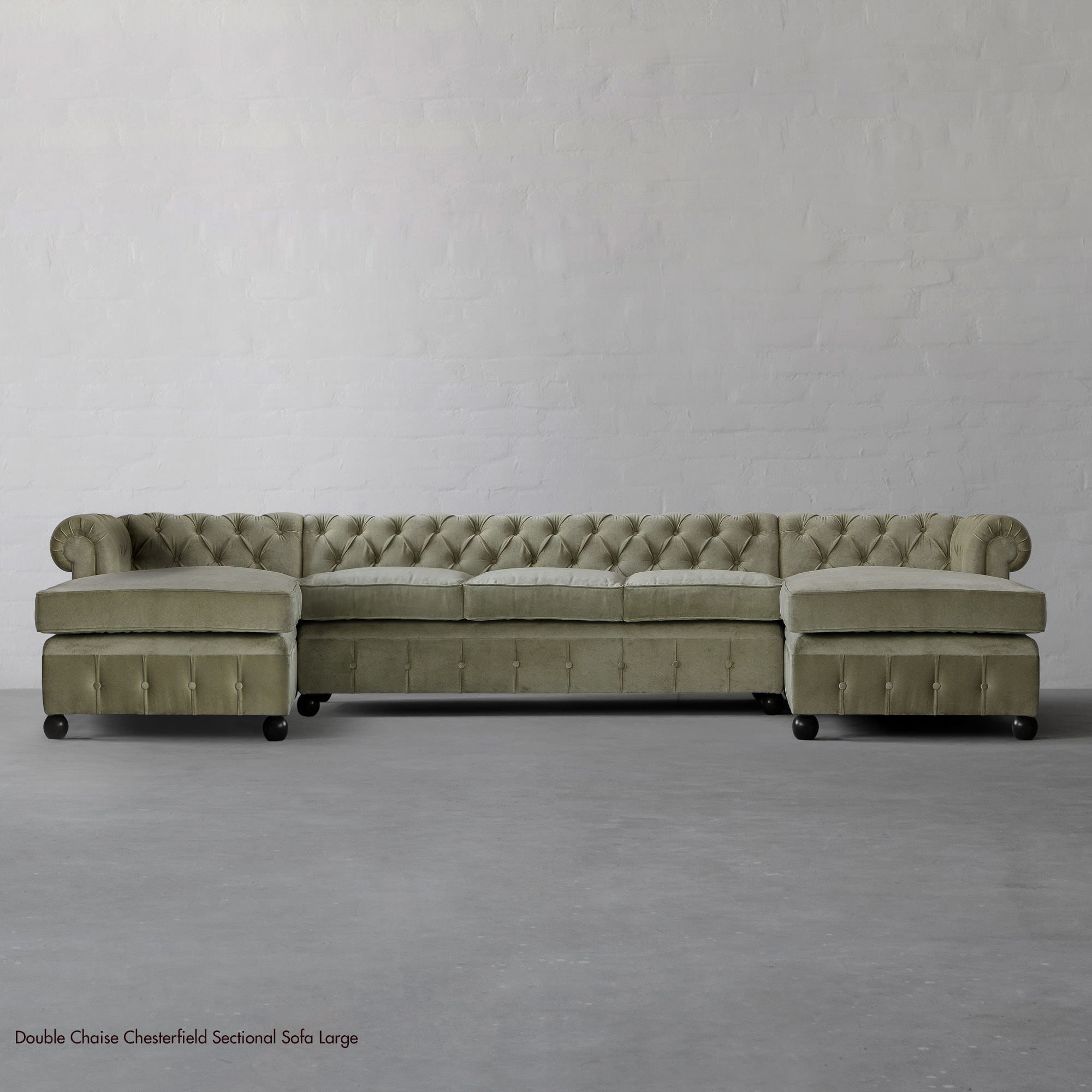 Double Chaise Chesterfield Sectional LARGE