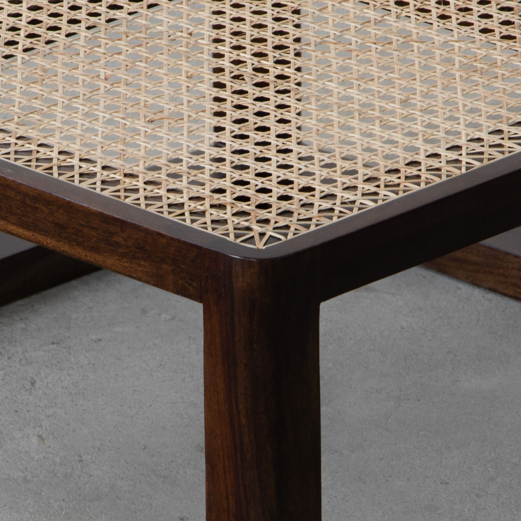 Auroville Rattan Coffee Table