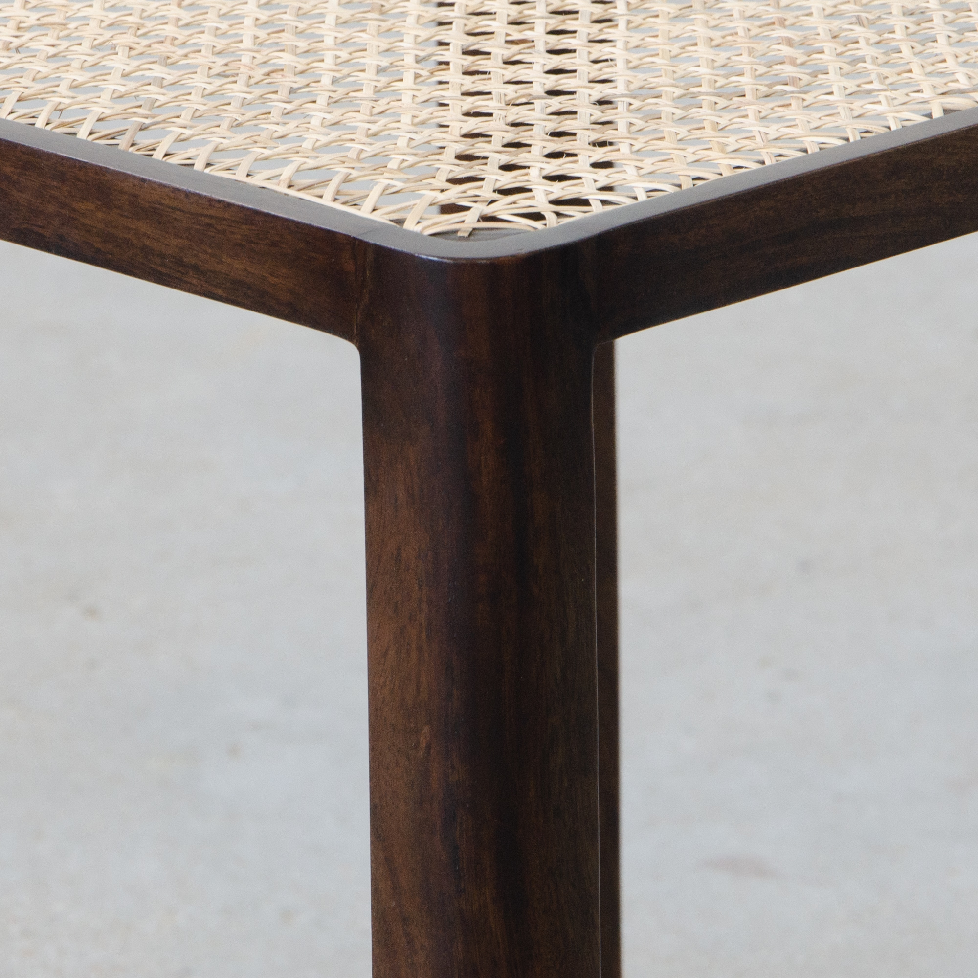 Auroville Rattan Side Table