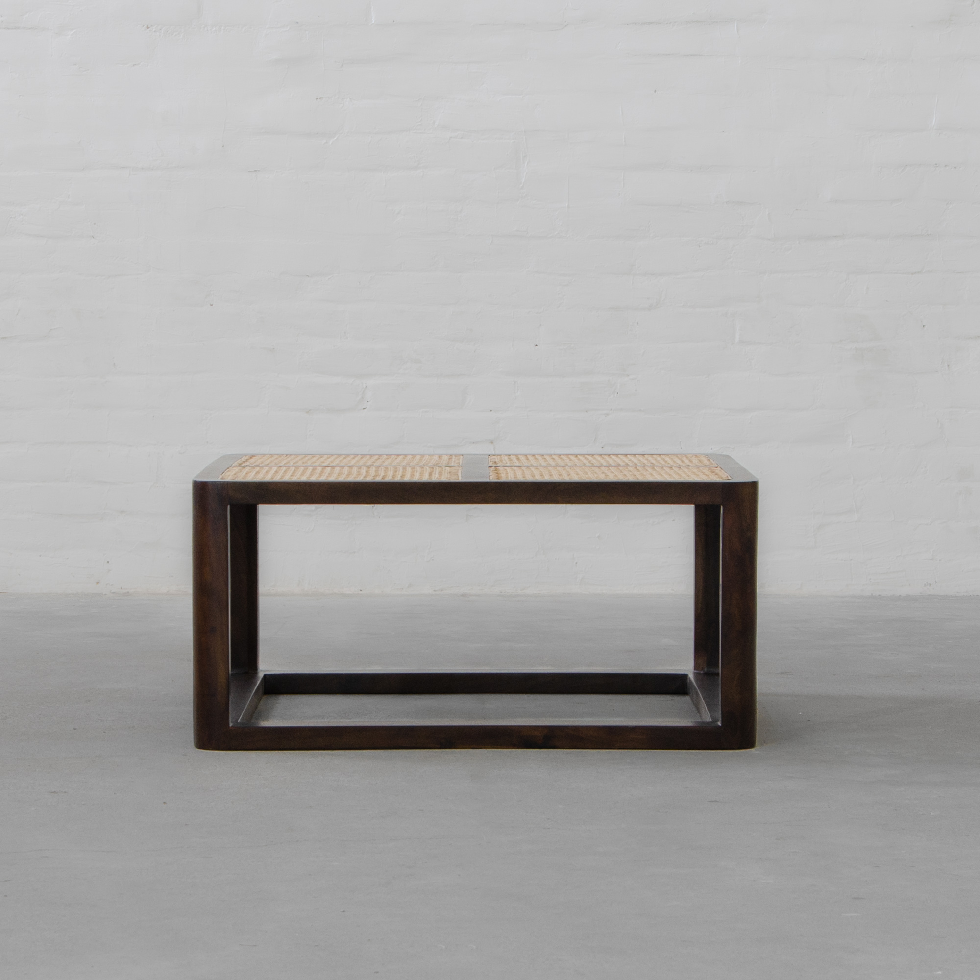 Auroville Section Rattan Coffee Table