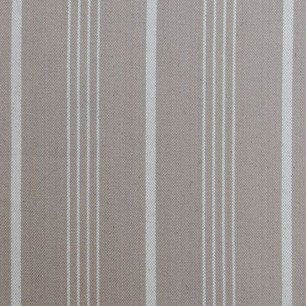 "Linen Cotton Sand & Pearl Stripe Fabric Swatch 6"" X 6"""