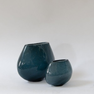 Dew Glass Vase - Teal