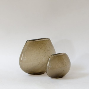 Dew Glass Vase - Brunette