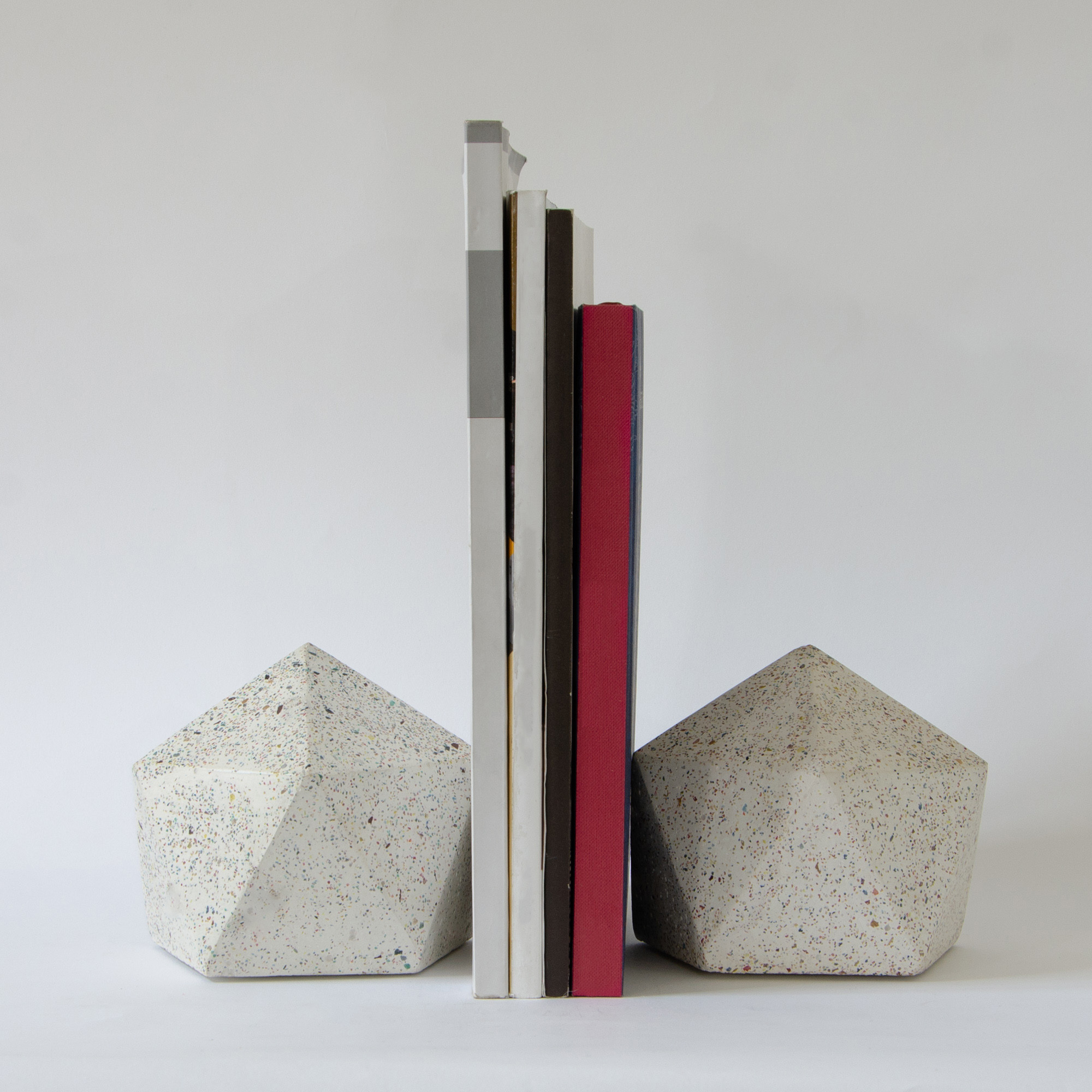 The Pentagon Book Ends (Set of 2)