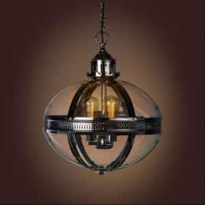 Duomo Glass Oval Chandelier Nickel Finish