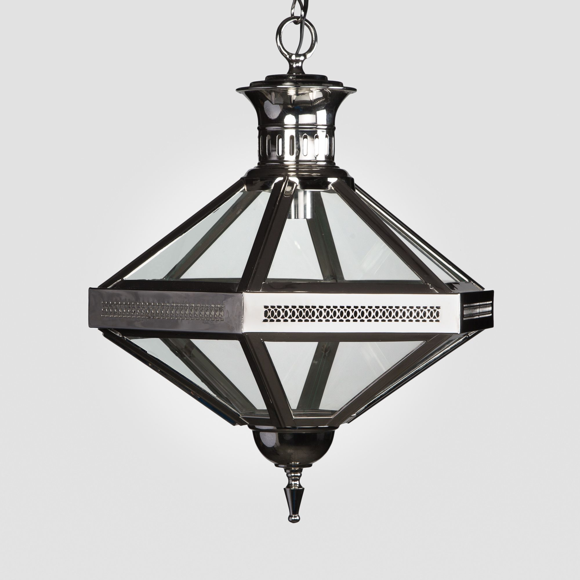 Duomo Hexagon Pendant Chandelier Nickel Finish