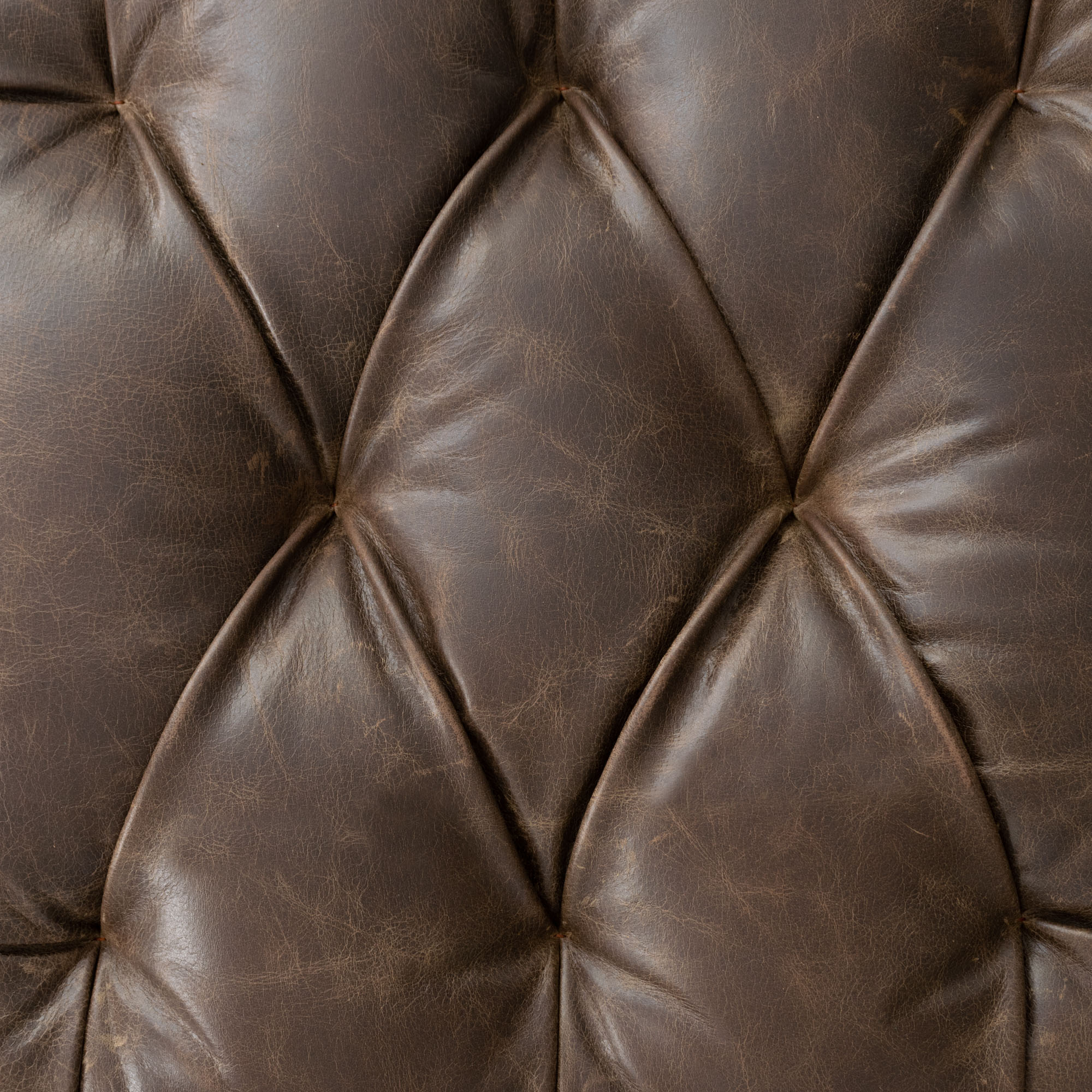 Easton Upholstered Leather Ottoman