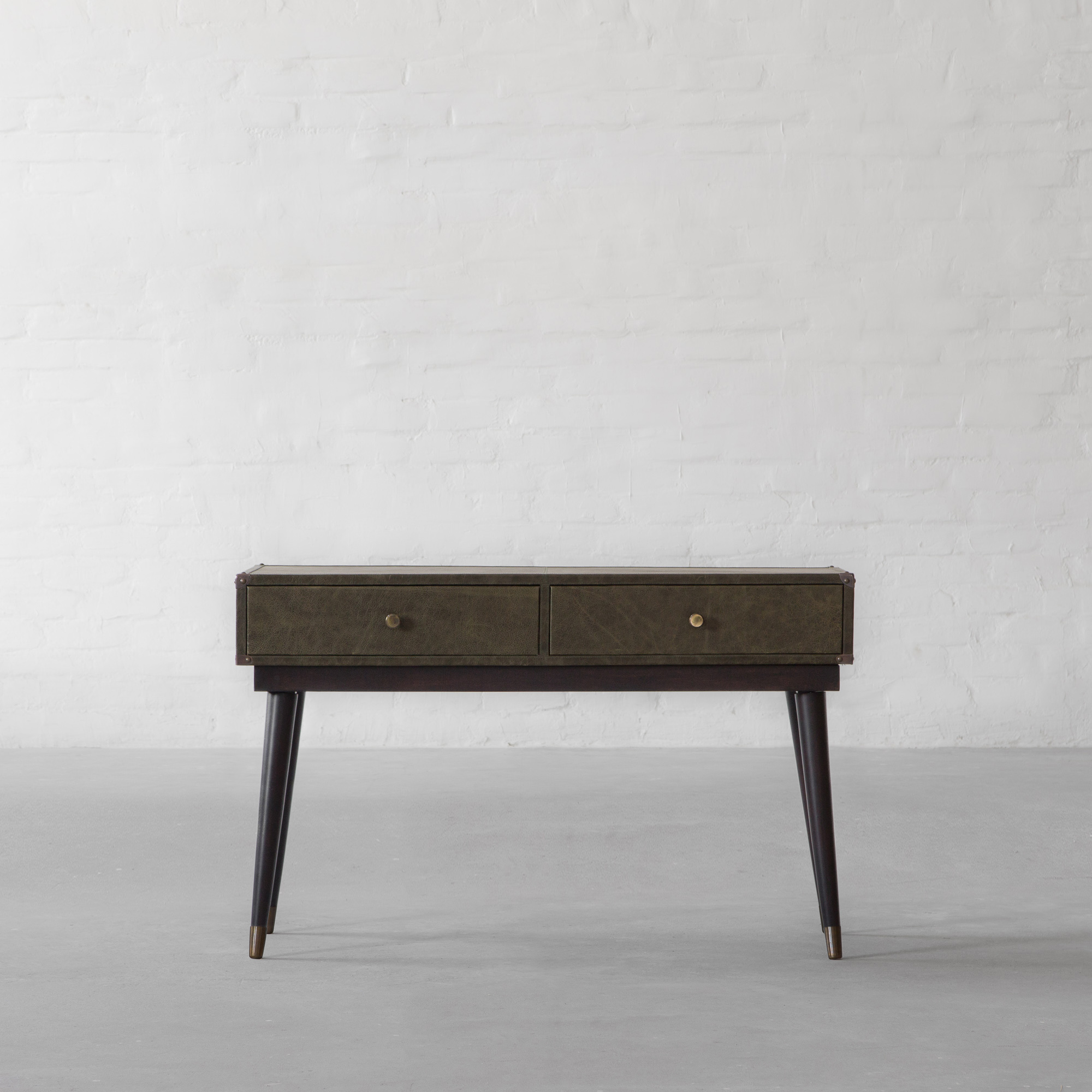 Edward Leather Clad Console Table
