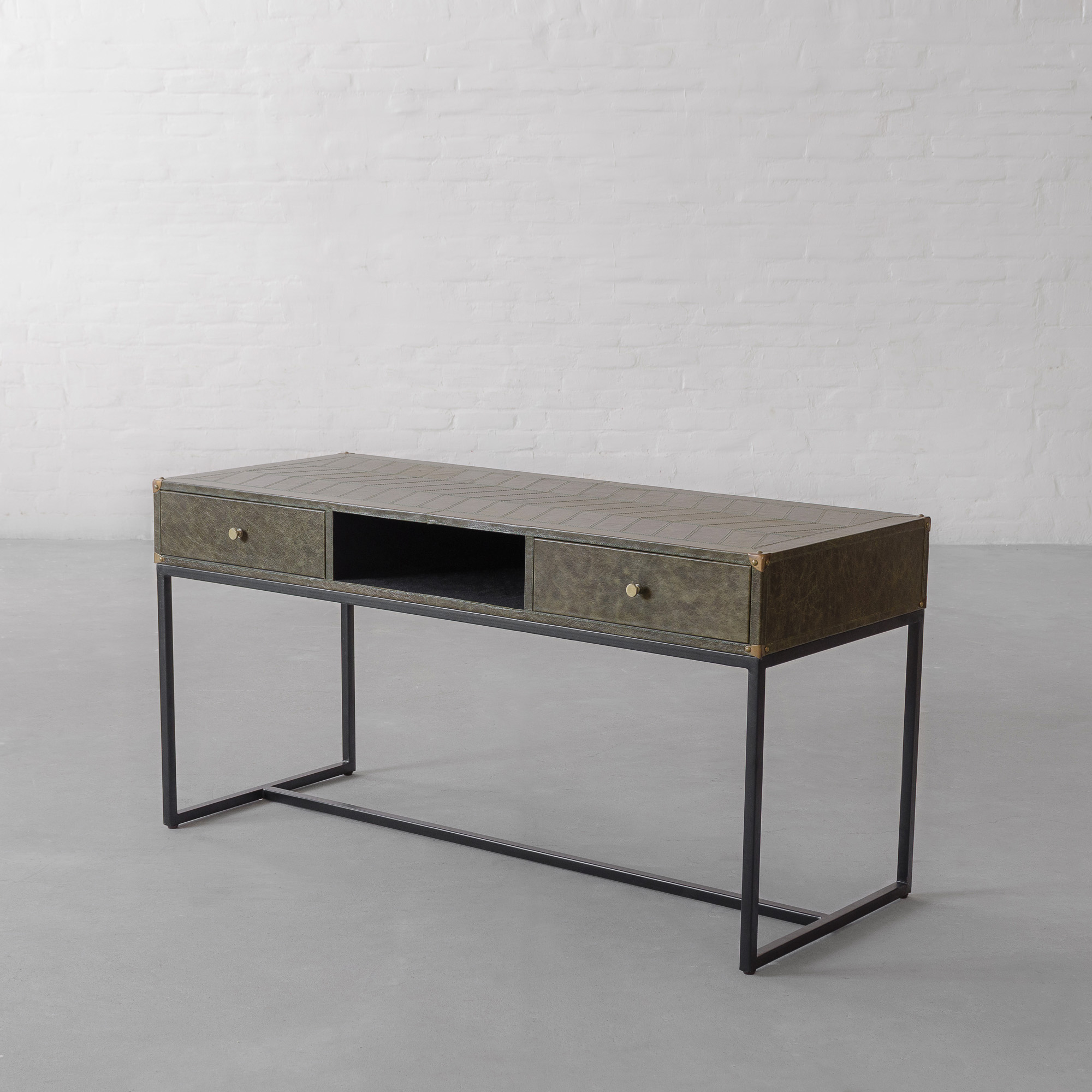 EDWARD LEATHER CLAD STUDY TABLE
