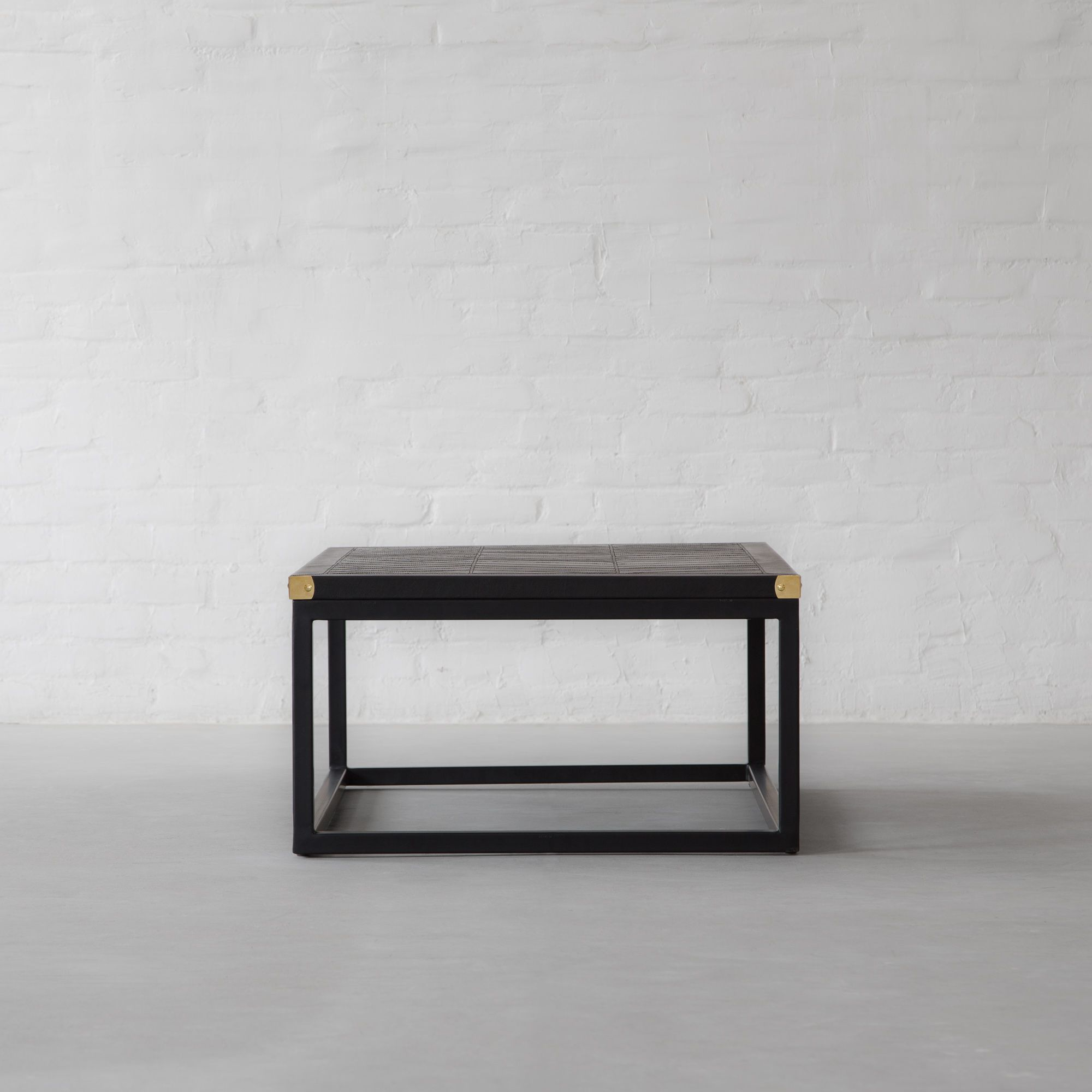 Edward Leather Top Coffee Table
