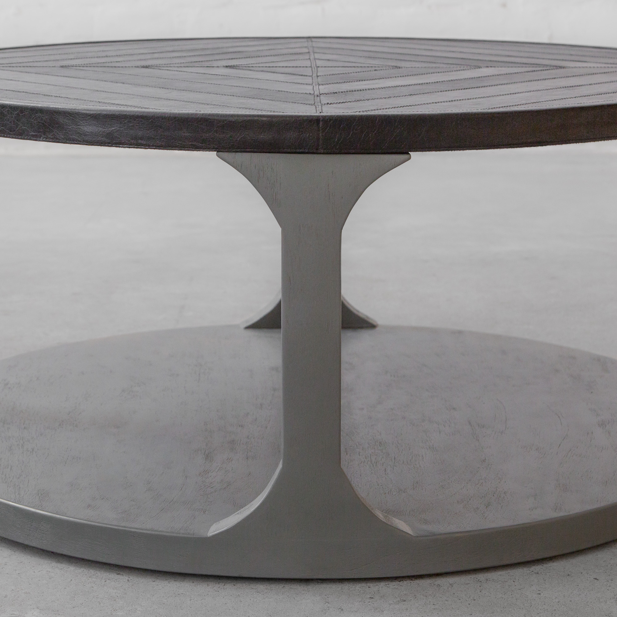 Valentin Leather Clad Coffee Table
