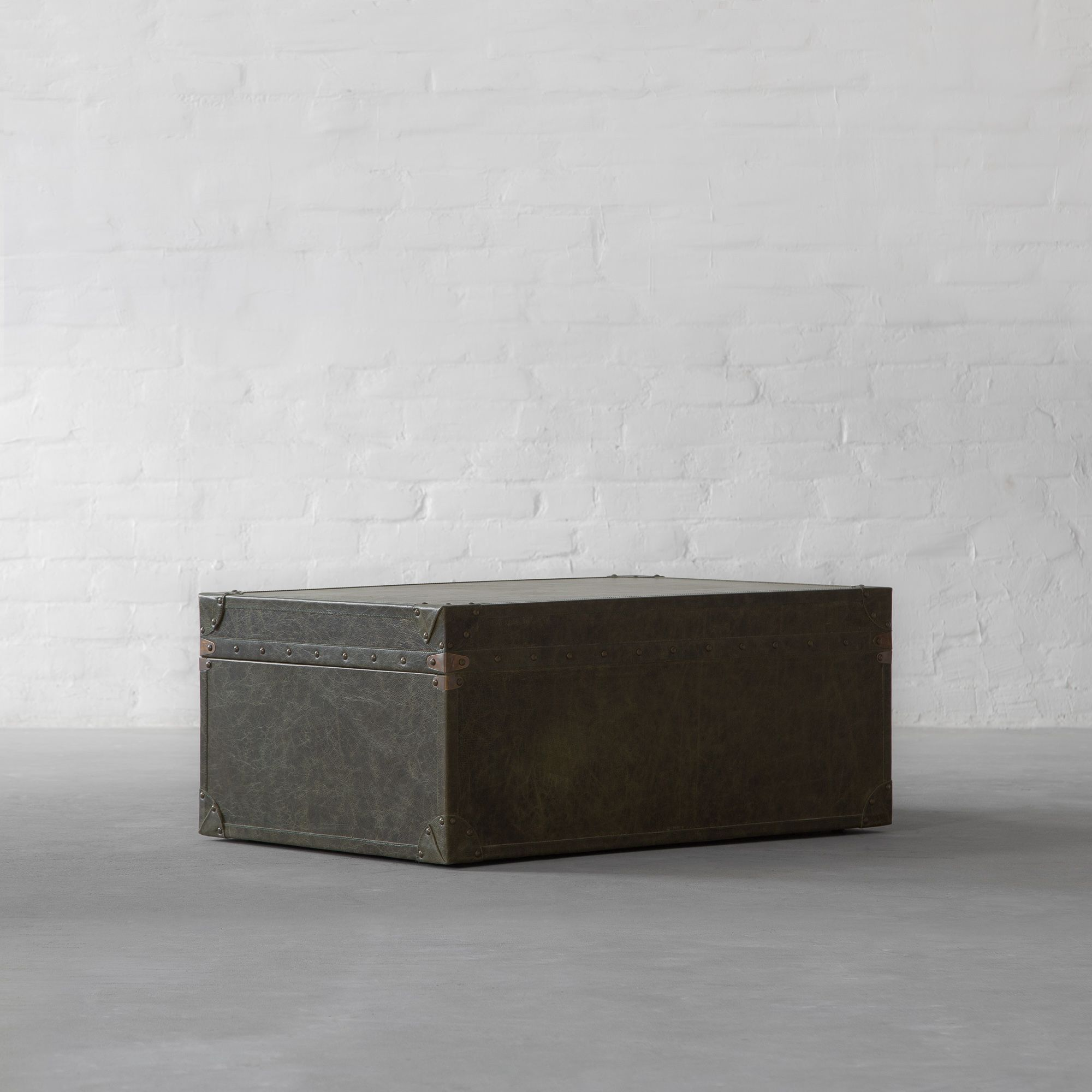 Udaipur Leather Trunk Coffee Table