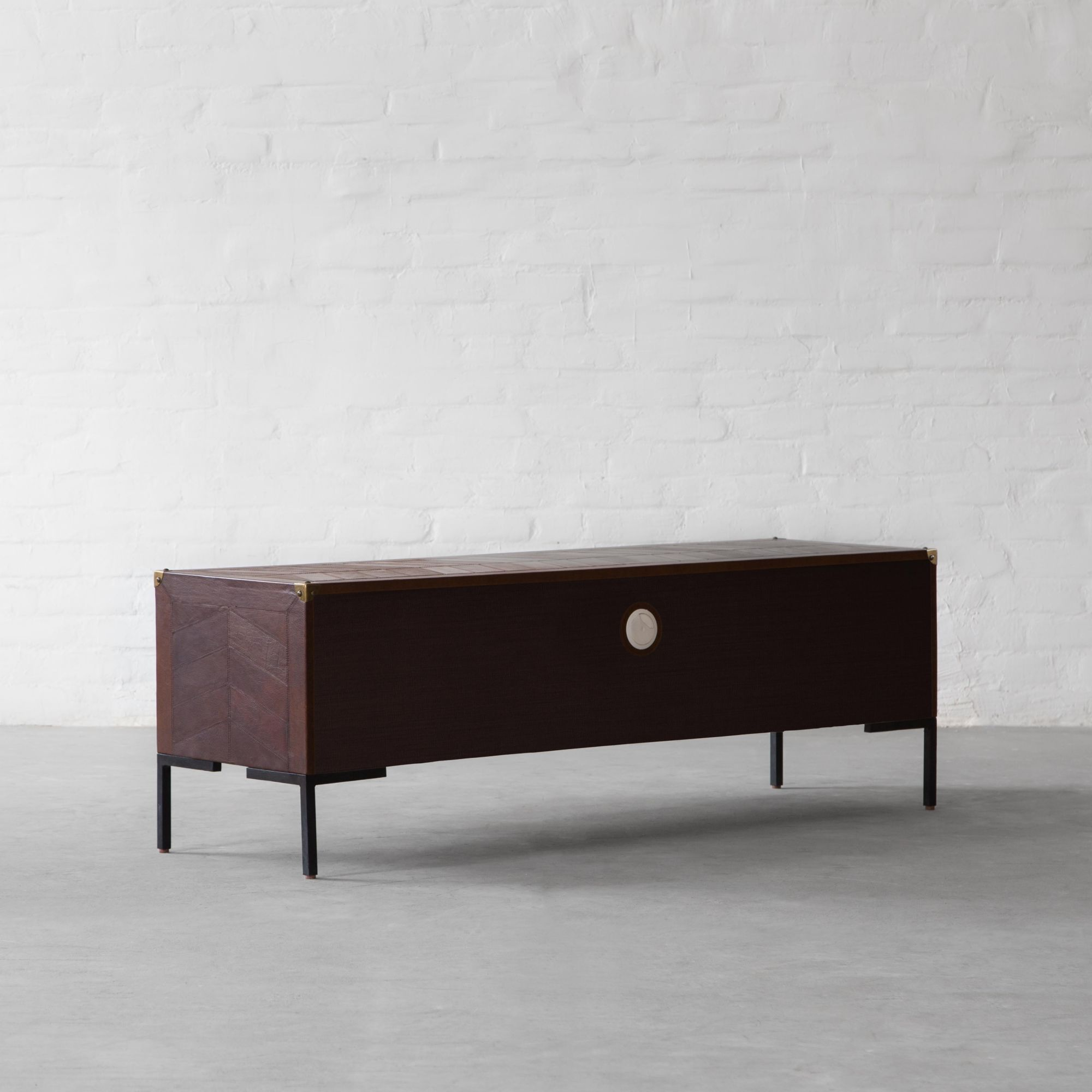Edward Leather TV Unit