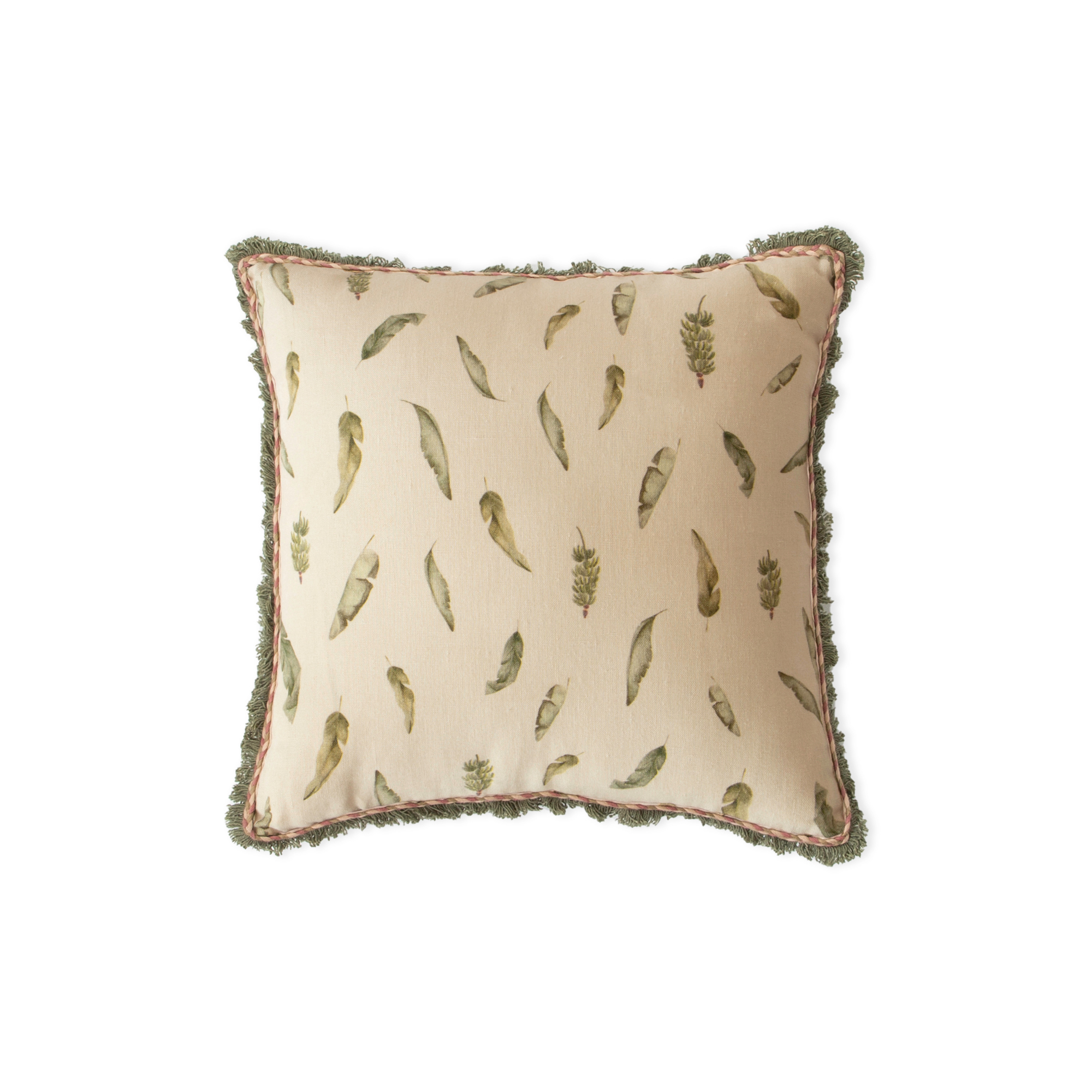 Banana Fruit and Leaves Cushion Cover