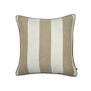 DESSERT STRIPE  WITH LEATHER TRIM
