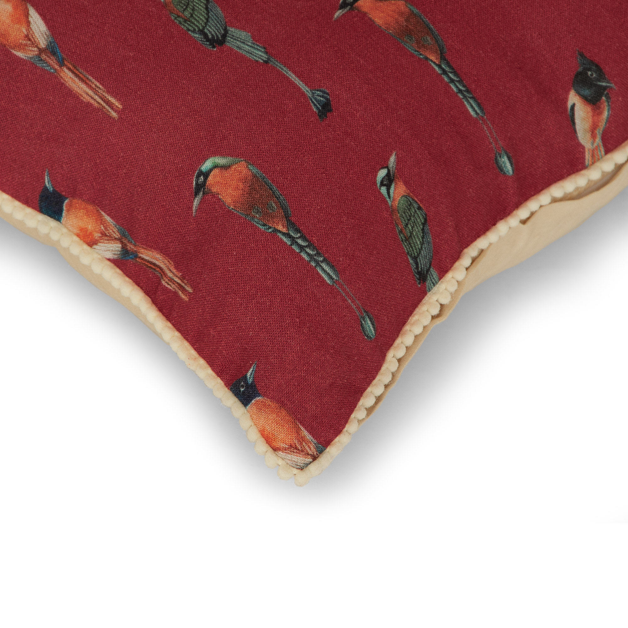 FLOCKING AUTUMN BIRDS CUSHION COVER