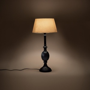 French Country Table Lamp Stand -  Ebony