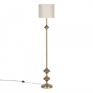 Rambagh Floor Lamp Stand - Antique Brass
