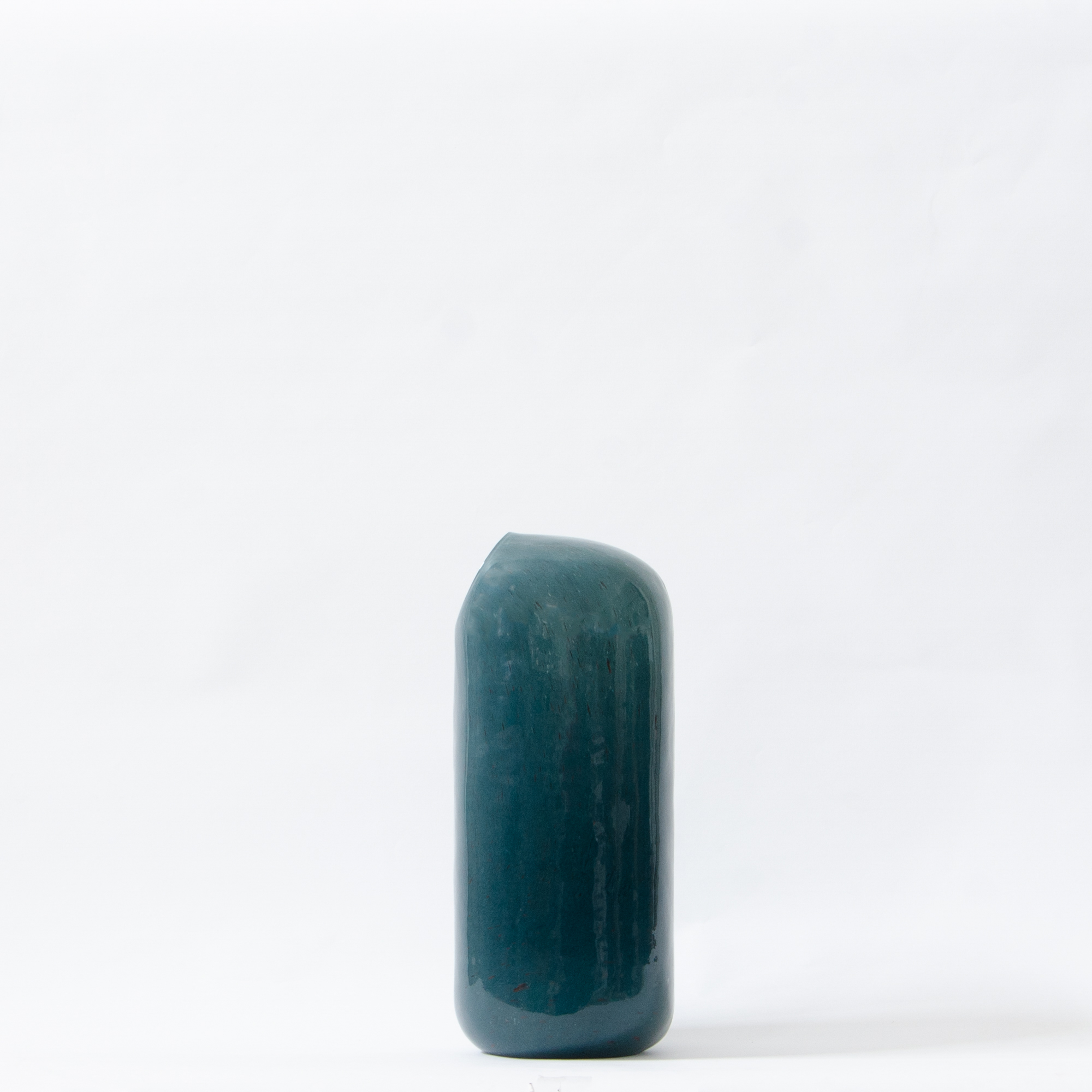 Gemstone Glass Vase - Teal