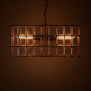 Halle Metal and Glass Pendant Lamp