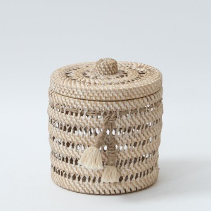 Hata Handwoven Basket With Lid