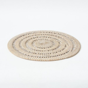 Hata Handwoven Round Table Mat