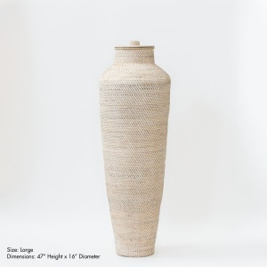 Hata Handwoven Floor Vase With Lid