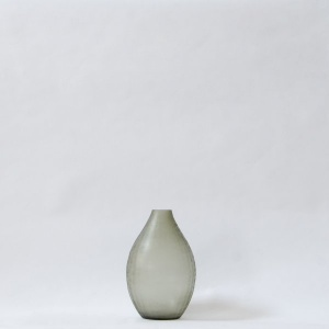 Dunes Teardrop Glass Vase - Basil