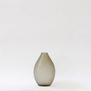 Dunes Teardrop Glass Vase - Brunette