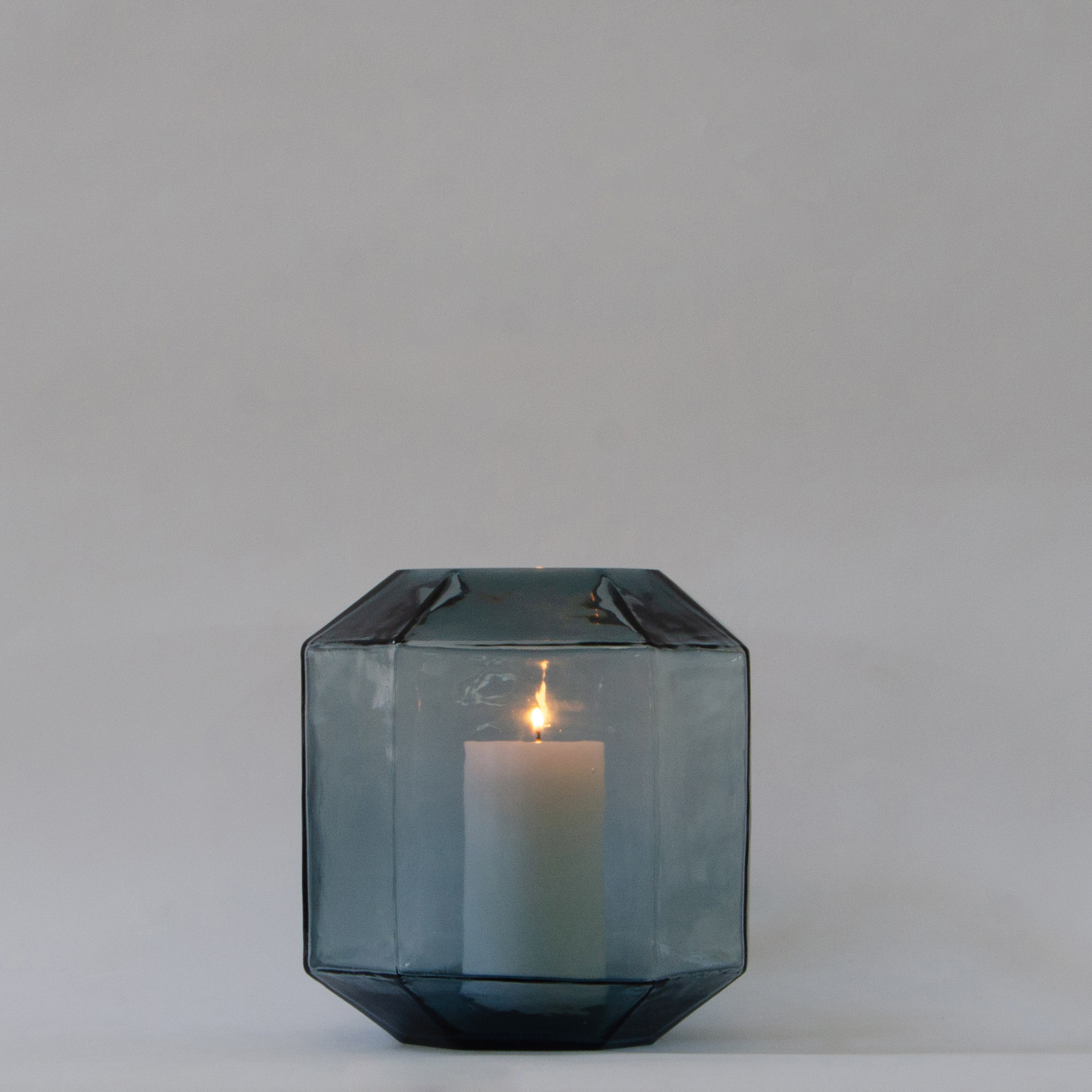 Hive Glass Candle Holder - Teal