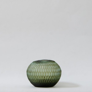 Honeycomb Glass Vase - Basil