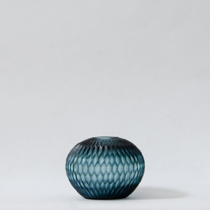 Honeycomb Glass Vase - Teal