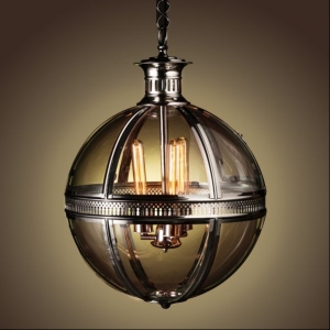 Duomo Glass Ball Chandelier Nickel Finish