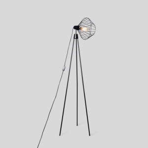 Mill Tripod Floor Lamp Ebony