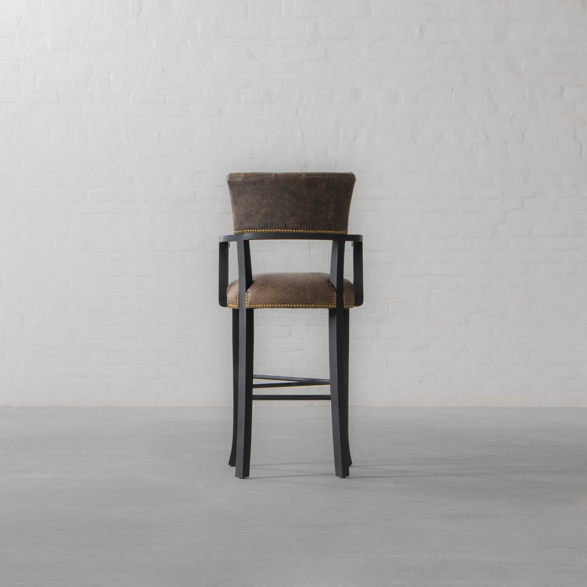 Islington Leather Bar Chair